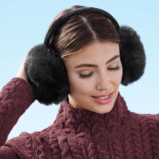 UNECHTA Fake-Fur-Ohrenwärmer Angesagte Fell-Ohrenwärmer von UNECHTA – dem deutschen Spezialisten für luxuriöse Webpelz-Accessoires.