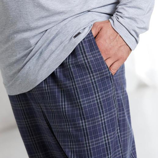"Hanro Pyjama ""Perfect blend"" Perfekte Pyjama-Kombi: unvergleichlich zartes Shirt aus MicroModal + kuschelige Hose aus Baumwoll-Flanell."