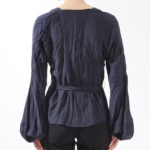 Strenesse Seidencrash-Bluse Reine Seide. Aber völlig unkompliziert.