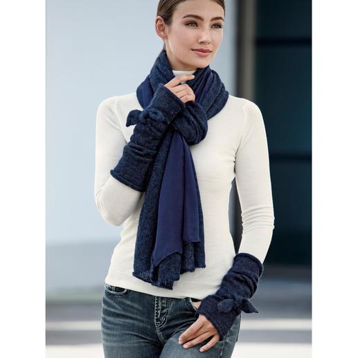 Ancini Doubleface-Schal oder Schleifen-Stulpen Winterwarme Accessoires mit selten femininer Note.