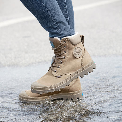Palladium Waterproof Leder-Boots Kult seit 1947. Jetzt wieder modisch aktuell: original Palladium Boots. Unsterbliches Design. Unverwüstliche Qualität.