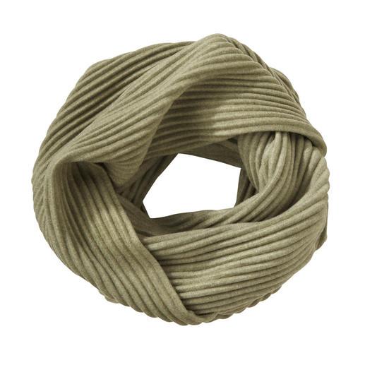 """Plissee-Fleece-Loop-Schal Preisgekröntes Design aus Schweden: """"Pleece"""". Außergewöhnlich elegant, soft und wärmend."""