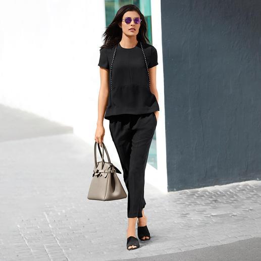 SLY010 24-Stunden-Shirt oder -Hose, Schwarz Der elegante 2-Teiler mit 24-Stunden-Potential. Sogar Konkurrenz für Ihr kleines Schwarzes.