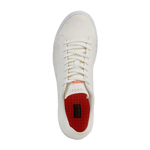 Swims Wash&Wet-Sneaker Der immer saubere unter den weißen Sneakers. Maschinenwaschbar. Salzwasserfest. Schnell trocknend. Von Swims.