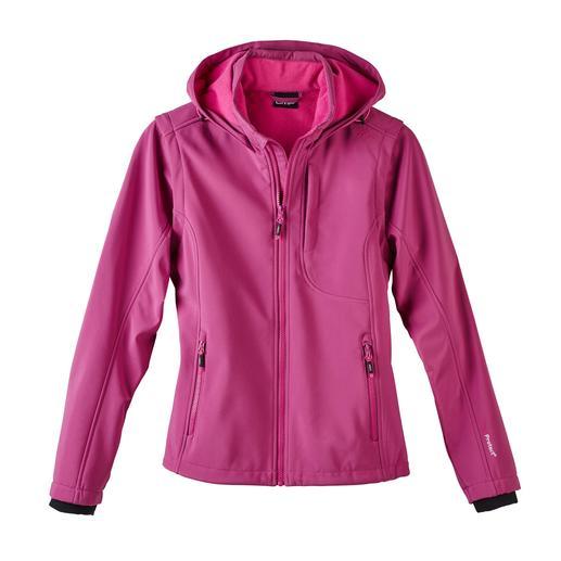 Soft Shell-Damenjacke, Beere Schlank, leicht und trotzdem warm: die Jacke aus Soft Shell, mit WindProtect®.