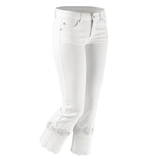 """Liu Jo Jeans weiße Spitzen-Bottom up - Kaum eine Skinny- Jeans lässt Ihren Po knackiger aussehen als die """"Bottom up"""" von Liu Jo Jeans, Italien."""
