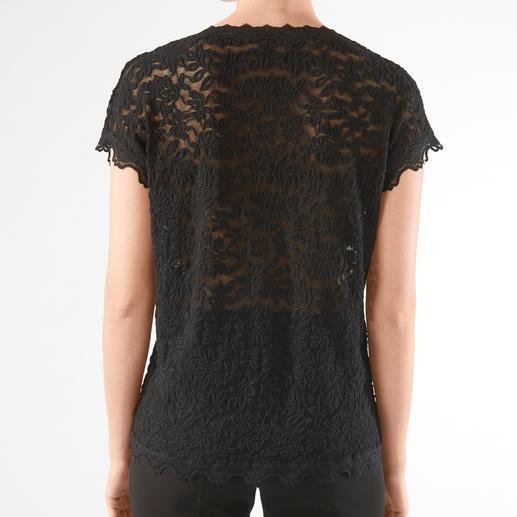 Rosemunde Copenhagen Spitzen-Shirt Das unkomplizierte Spitzen-Shirt für jeden Anlass. Pflegeleicht wie ein T-Shirt, edel wie eine Bluse.