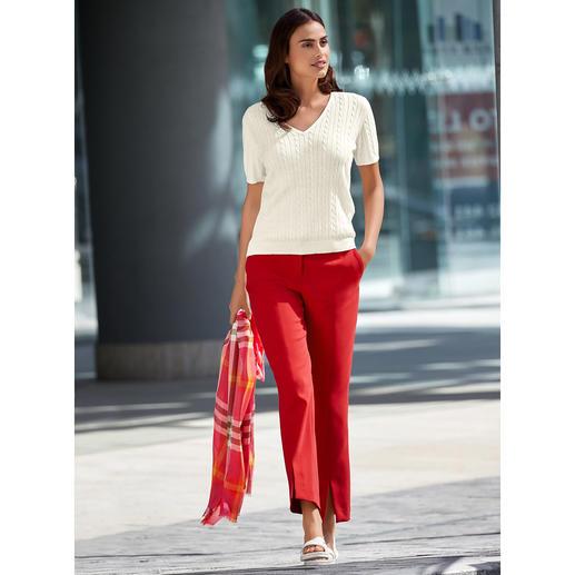 """Seductive Red Pants Dank """"Blended Wool"""" weich und kratzfrei. Bequem elastisch. Strapazierfähig. Und maschinenwaschbar."""