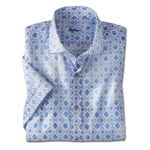 Ingram Musselin- Kurzarmhemd - 30 % leichter als Baumwoll-Popeline: Ihr wohl erfrischendstes Kurzarmhemd ist aus seltenem Musselin-Gewebe.