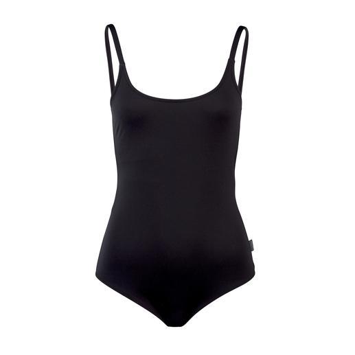 Perfect-Black-Badeanzug Der perfekte Basic-Badeanzug, der jedem Figurtyp passt: Puristisch clean und modern. Mit einem Hauch Sexappeal.