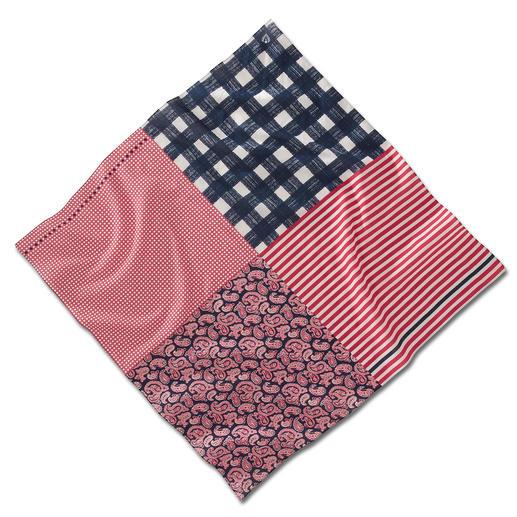 Vario-Tuch Das wohl variabelste Tuch in Ihrem Kleiderschrank. 3 Farben. 4 Muster. Unzählige Styling-Möglichkeiten.