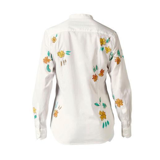 Alessandro Gherardeschi Handpaint-Bluse Handbemaltes Unikat statt einfach bedruckter Massenware: die Flower-Paint-Bluse von Alessandro Gherardeschi.