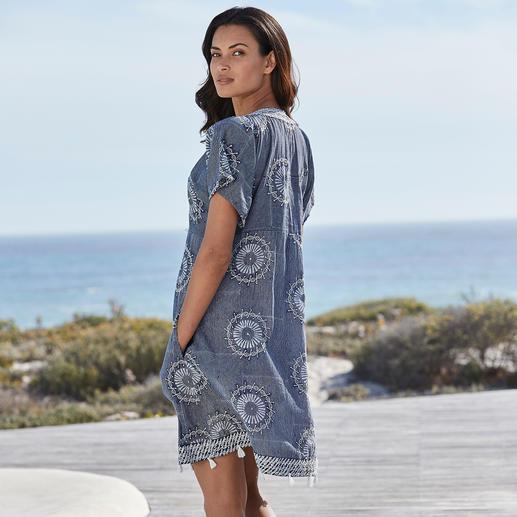 Lula Soul Ethno-Stick-Kleid Kunstvoll bestickt statt plakativ bedruckt: das edle Ethno-Kleid vom internationalen Trend-Label Lula Soul.