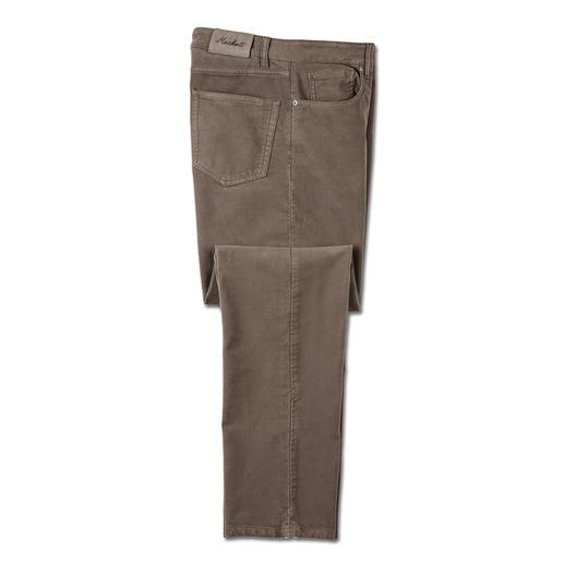 Hackett London Moleskin- Five-Pocket Rares Fundstück: die Winterhose aus Moleskin. Samtweich und nahezu winddicht gewebt.