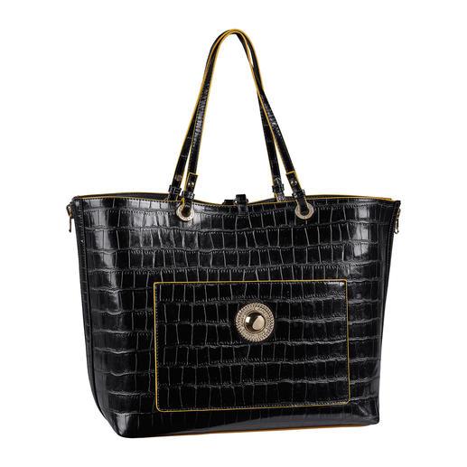 Versace Jeans 2-in-1-Shopper Zwei Designertaschen zum Preis von einer. Der Kroko-Look-Shopper mit integrierter Handtasche. Von Versace Jeans.