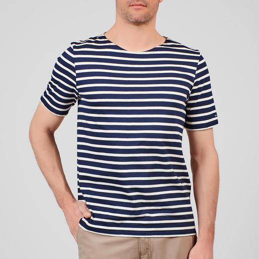 T-Shirt, Marine/Ecru