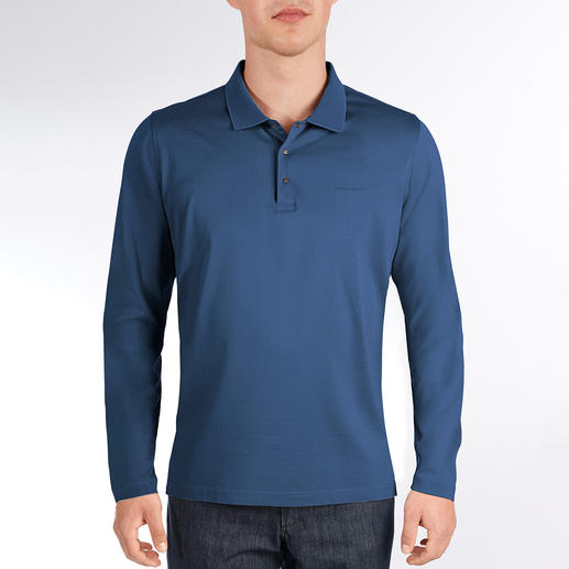 Karl Lagerfeld Basic-Langarm-Polo Eleganter als die meisten: Lagerfelds Polo aus merzerisierter Baumwolle. Nobel schimmernd und dauerhaft farbbrillant.