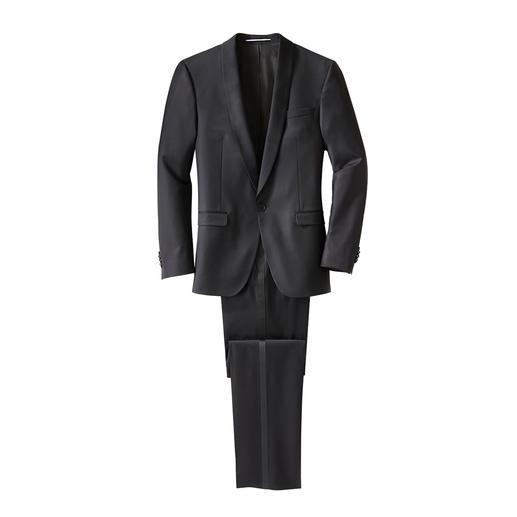Karl Lagerfeld Smoking-Jackett oder -Hose Zeitgemäß schlanke Passform, edles Wolltuch: Für einen Designer-Smoking müssen Sie nicht mehr als 498,– Euro ausgeben.