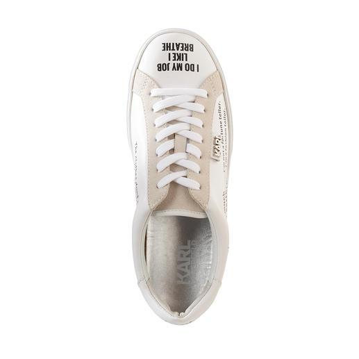 Lagerfeld Statement-Sneakers Dauerbrenner weiße Sneaker + Trendthema Statement-Prints: perfekt mit Original-Zitaten von Karl Lagerfeld.