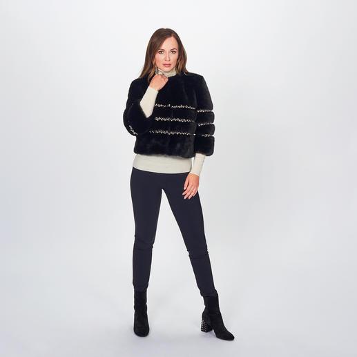 Ainea Fake-Fur-Couturejacke oder -Kragen En Vogue: Fake Fur de luxe. Am besten vom italienischen In-Label Ainea.