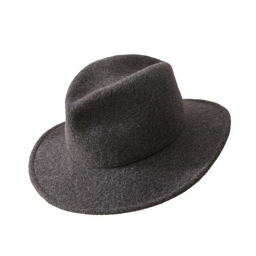 Fedora Handtaschen-Hut Der knautschbare, kofferfreundliche Fedora aus weich wärmender Schurwolle.