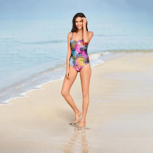 SunSelect®-Badeanzug Pink Animal Dieser Badeanzug wirkt wie eine gute Sonnencreme.