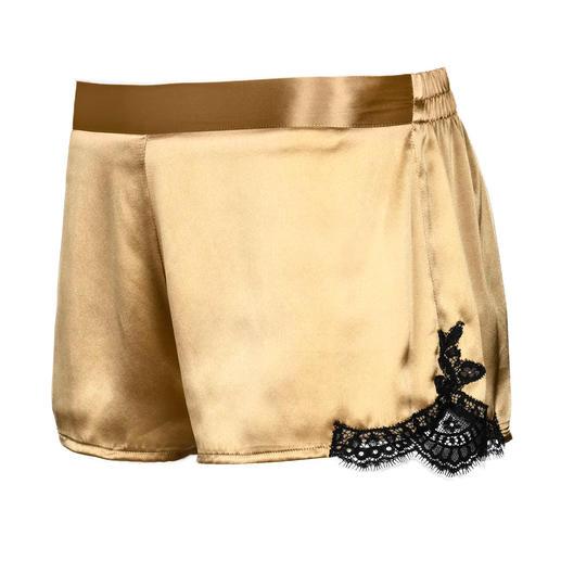 Aubade Jubiläums-Top, -Panty oder Kimono Die glamouröse Aubade Jubiläums-Edition in Gold: Verführerisch schöne Nachtwäsche – und zugleich modischer Lingerie-Look de luxe.