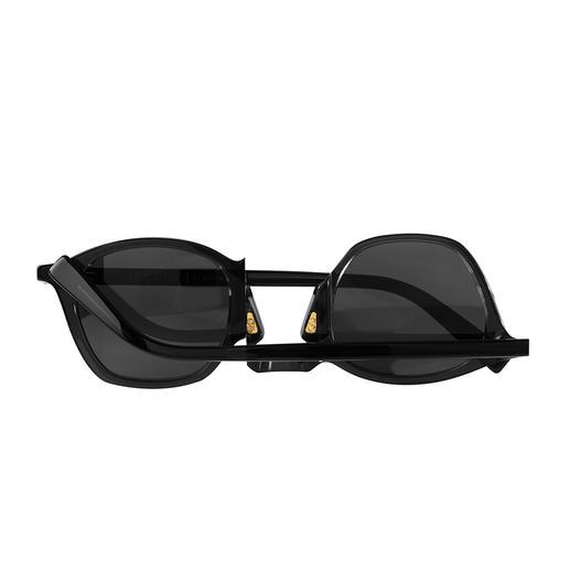Movitra® Dreh-Sonnenbrille Die topmodische und doch zeitlose Sonnenbrille: Aktuelles Schwarz/Schwarz. Handfertigung in Italien.
