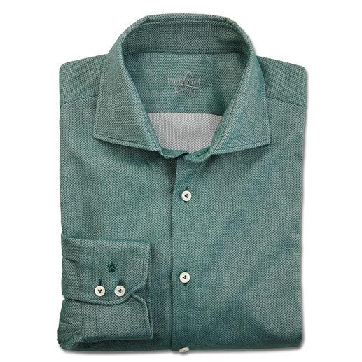 van Laack Flanell-Businesshemd So korrekt kann ein Flanellhemd sein: Klassischer Haikragen. Feines Fischgrat-Dessin. Sakko-tauglicher Light-Flanell.