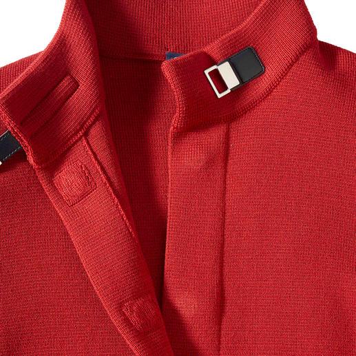 Saint James Belle ile-Strickjacke Die Belle ile-Strickjacke: Edel wie eine Couture-Jacke. Vielseitig wie eine Jeansjacke. Bequem wie eine Strickjacke.