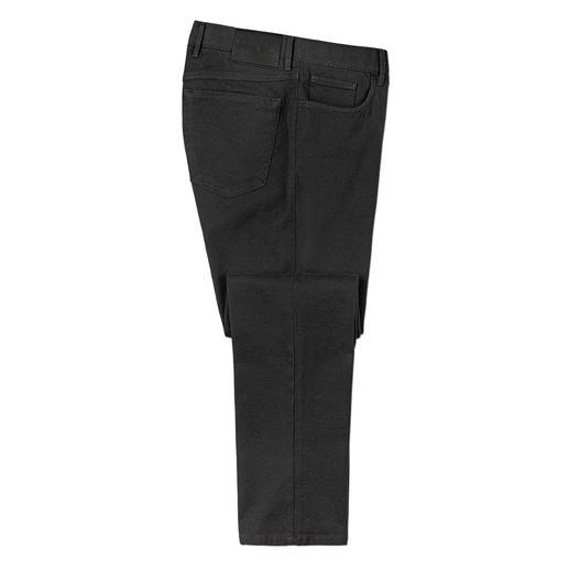 Hiltl Strukturhose Bequem wie Jersey – aber viel fester und stabiler. Die schlanke 5-Pocket-Hose aus italienischem 3D-Gewebe.