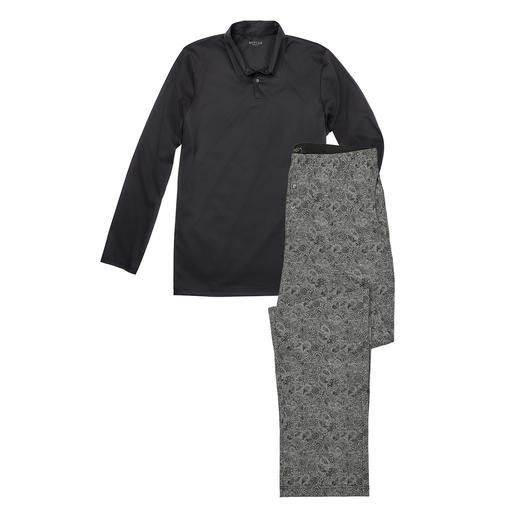 Novila Gentleman-Pyjama Der perfekte Gentleman-Pyjama: Bequem. Luftig. Edel. Aus mercerisiertem Baumwoll-Interlock. Von Novila.