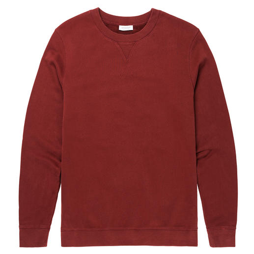 "Sunspel Loopback-Sweatshirt Mode-Revival Sweatshirt. Hier klassisch als ""Loopback"" gewirkt. Von Sunspel, England. Tradition seit 1936."