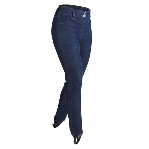 Jeans-Steghose Lieblingsstoff Denim – endlich auch als perfekte Stiefelhose mit Steg. Sitzt immer glatt und faltenfrei.