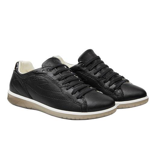 Waschbarer Damen-Ledersneaker Diesen Leder-Sneaker waschen Sie einfach in der Maschine. Made in France. Vom Segel- Spezialisten TBS.