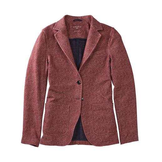 Circolo 1901 Jersey-Fischgrat-Blazer Elegant wie ein Blazer, bequem wie eine Strickjacke. Gestrickter Jersey, klassisch konfektioniert. Von Circolo 1901.