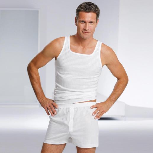 Unterhemd und Boxershorts