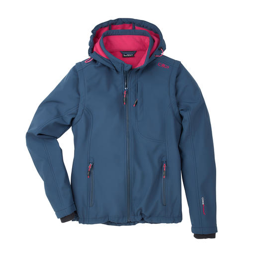 Soft Shell-Damenjacke, Marine Die Soft Shell-Jacke mit WindProtect®. Schlank, leicht und trotzdem warm. Von CMP.