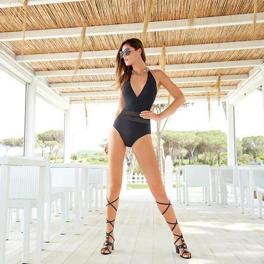 Opera® Mesh-Badeanzug, Taillenstreifen Kaschierend und bedeckend wie ein Badeanzug. Sexy wie ein Bikini.