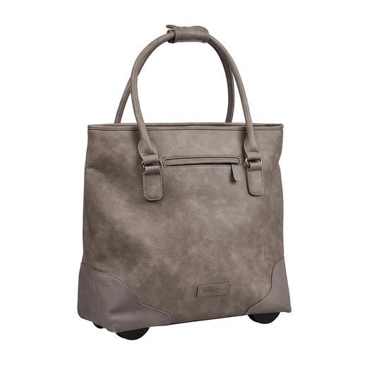 Die XL-Shopper-Bag mit verborgener Trolley-Funktion. Von Fritzi aus Preußen. Immer elegant. Ausreichend groß. Nie zu schwer.