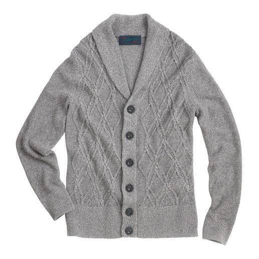 Carbery Aran-Sommercardigan Der luftige Leinen-Baumwoll-Cardigan – made in Ireland von Carbery. Aran-Strickkunst auf sommerleichte Art.