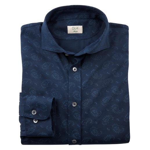 Dorani Paisley-Jersey-Hemd Glatt, dunkel und dezent dessiniert: So elegant kann ein Jersey-Hemd sein.
