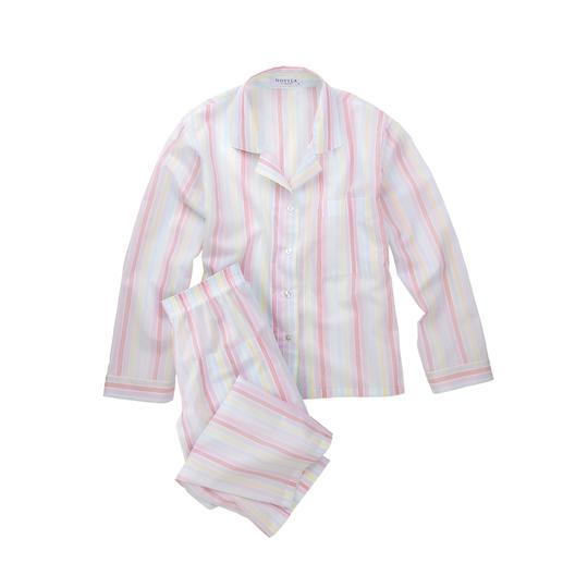Novila Pastellstreifen-Pyjama Der Pyjama für den ersten guten Eindruck am Morgen.