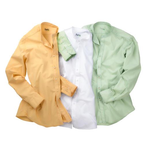 Ingram Basic-Musselin-Hemd Korrekt wie Baumwoll-Popeline. Luftig wie Leinen. Leichter als beides.