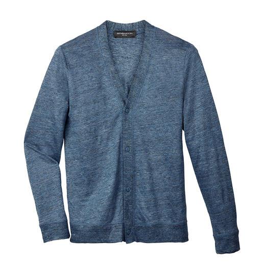 Leinen-Melange-Cardigan Fein gewirkt statt grob gestrickt: der elegante unter den Leinen-Cardigans.