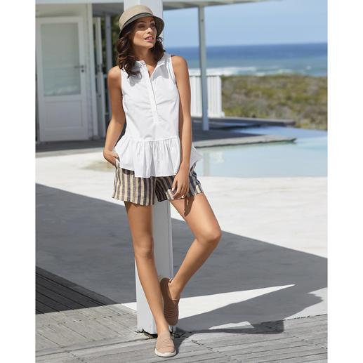 TWINSET Blusen-Tank Top oder Leinen-Shorts - Selten ist eine sportive Trend-Kombi so stilvoll, feminin und erwachsen.
