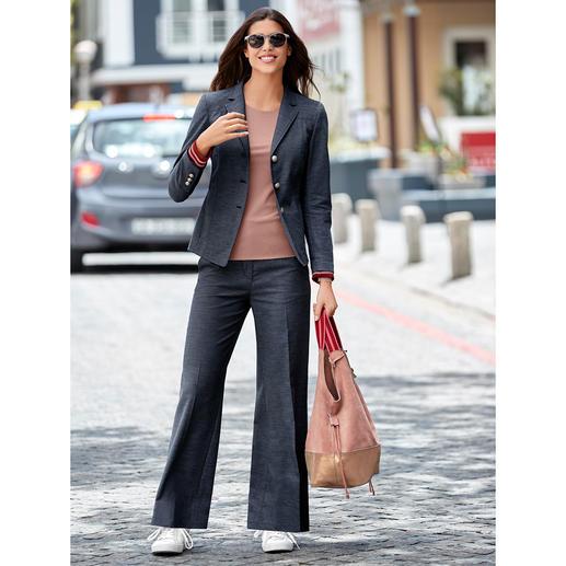 Benbarton Jeansanzug-Blazer oder -Hose Jeansanzug-Update: Edel-Denim plus Sportswear-Detail. Seriös genug fürs Business. Lässig genug für die Freizeit.