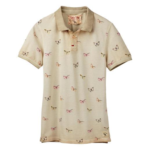 Take a way Damen-Polo-Shirt Top-Thema Print-Polos: besonders gut beim italienischen Label Take a way.