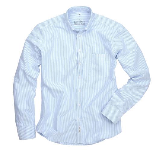 The BDO-Shirt, Hellblau/Weiß Gestreift, Slim Fit Entdecken Sie einen guten alten Freund. Und vergessen Sie, dass ein Hemd gebügelt werden muss.