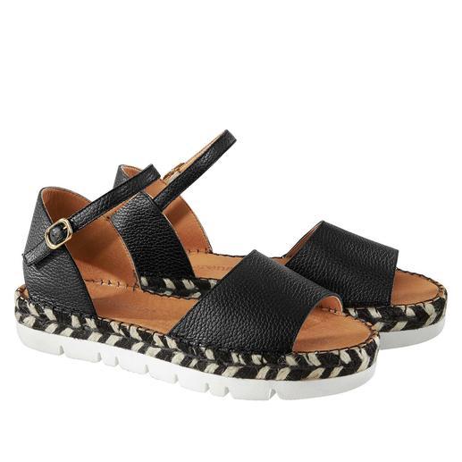 Die hochmodische Espadrille-Sandale – gefertigt vom Spezialisten mit 40 Jahren Know-how. Made in Spain. Von Macarena®.